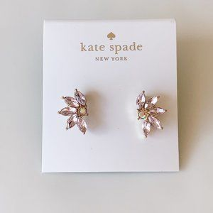 Kate Spade light pink crystal earrings